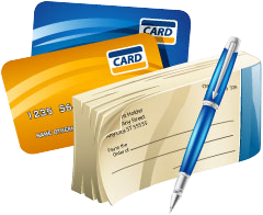 We Accept All Major Credit Cards & eChecks